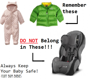 no coats in car seats